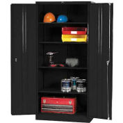 Paramount™ Storage Cabinet Easy Assembly 36x18x78 Black