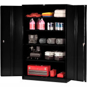 Paramount™ Storage Cabinet Easy Assembly 48x24x78 Black