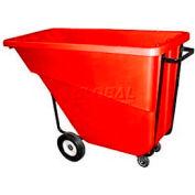Bayhead Products Red Medium Duty 5/8 Cubic Yard Tilt Truck 1000 Lb. Capacity