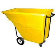 Bayhead Products Yellow Medium Duty 5/8 Cubic Yard Tilt Truck 1000 Lb. Capacity