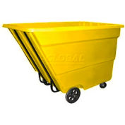 Bayhead Products Yellow Medium Duty 2.2 Cubic Yard Tilt Truck 2200 Lb. Capacity