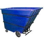 Bayhead Products Blue Heavy Duty 1.7 Cubic Yard Tilt Truck 2200 Lb. Capacity