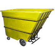 Bayhead Products Yellow Heavy Duty 1.7 Cubic Yard Tilt Truck 2200 Lb. Capacity