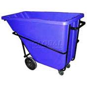 Bayhead Products Blue Heavy Duty 5/8 Cubic Yard Tilt Truck 1500 Lb. Capacity