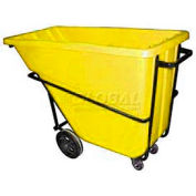 Bayhead Products Yellow Heavy Duty 5/8 Cubic Yard Tilt Truck 1500 Lb. Capacity