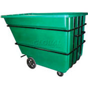 Bayhead Products Green Heavy Duty 2.2 Cubic Yard Tilt Truck 2500 Lb. Capacity