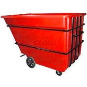 Bayhead Products Red Heavy Duty 2.2 Cubic Yard Tilt Truck 2500 Lb. Capacity