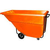 Bayhead Products Orange Medium Duty 1.1 Cubic Yard Tilt Truck 1200 Lb. Capacity