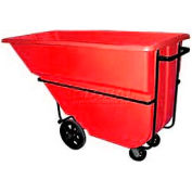 Bayhead Products Red Heavy Duty 1.1 Cubic Yard Tilt Truck 2100 Lb. Capacity