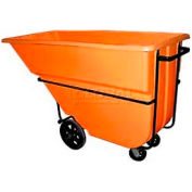 Bayhead Products Orange Heavy Duty 1.1 Cubic Yard Tilt Truck 2100 Lb. Capacity