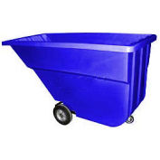 Bayhead Products Blue Light Duty 1.1 Cubic Yard Tilt Truck 600 Lb. Capacity