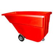 Bayhead Products Red Light Duty 1.1 Cubic Yard Tilt Truck 600 Lb. Capacity