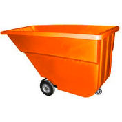 Bayhead Products Orange Light Duty 1.1 Cubic Yard Tilt Truck 600 Lb. Capacity