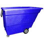 Bayhead Products Blue Light Duty 1.7 Cubic Yard Tilt Truck 1000 Lb. Capacity