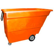 Bayhead Products Orange Light Duty 1.7 Cubic Yard Tilt Truck 1000 Lb. Capacity