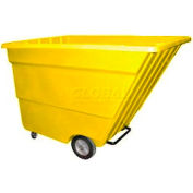 Bayhead Products Yellow Light Duty 2.2 Cubic Yard Tilt Truck 1200 Lb. Capacity