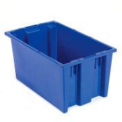 """Akro-Mils Nest & Stack Tote 35200 - 19-1/2""""L x 13-1/2""""W x 8'H, Blue - Pkg Qty 6"""