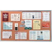 """Ghent® Cork Bulletin Board - Aluminum - 72""""W X 48""""H"""