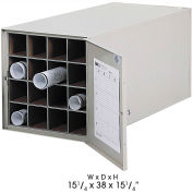 Safco Stackable Steel Blueprint Storage Roll File - 16 Tube Model