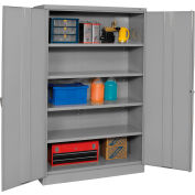 Tennsco Jumbo Storage Cabinet J1878A-N-MGY - Unassembled 48x18x78 Medium Grey