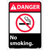 "Graphic Signs - Danger No Smoking - Vinyl 10""W X 14""H"