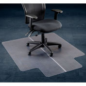 "Office Chair Mat for Carpet - 46""W x 60""L with 25"" x 12"" Lip - Straight Edge"