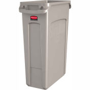 23 Gallon Rubbermaid Slim Jim Recycling Container - Beige