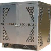 Aluminum Horizontal Gas Cylinder Cabinet - 4 Cylinder Capacity