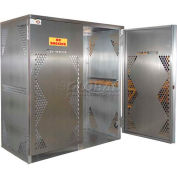 Aluminum Vertical Gas Cylinder Cabinet - 10 to 20 Cylinder Capacity