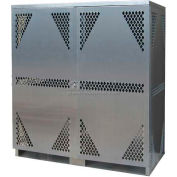 Aluminum Combination Gas Cylinder Cabinet - 8 Horizontal & 10 Vertical Capacity
