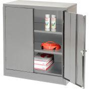 Tennsco Counter Height Industrial Storage Cabinet 1842 02 - 36x18x42 Medium Grey