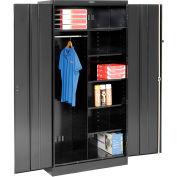 Tennsco Combination Industrial Storage Cabinet 2472-BLK - 36x24x78 Black