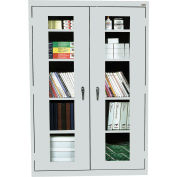 Sandusky Clear View Storage Cabinet EA4V461872 - 46x18x72, Light Gray