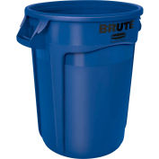 Rubbermaid Brute® 2632 Trash Container w/Venting Channels, 32 Gallon - Blue
