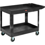 "Rubbermaid® 4546 Tray Shelf Plastic Service Cart 54x25 5"" Casters"