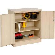 Tennsco Counter High Metal Storage Cabinet 1442-SND - 36x18x42 Sand
