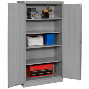 Tennsco Metal Storage Cabinet 1480-MGY - 36x24x72 Medium Grey