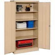 Tennsco Metal Storage Cabinet 36x24x72 Sand
