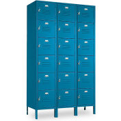 Penco 6365V-3-806KD VanGuard Locker Six Tier 12x12x12 18 Doors Ready To Assemble Marine Blue