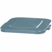 Flat Lid For 28 Gallon Square Rubbermaid Brute Waste Receptacles - White