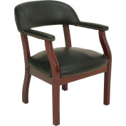 Boss Conference Chair with Arms - Vinyl - Black