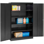 Tennsco Jumbo Storage Cabinet J1878A-N-BLK - Unassembled, 48x18x78 Black