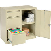 Storage 2-In-1 Cabinet 2 File/1 Utility Drawers and 1 adj. Shelf