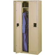 Tennsco Steel Locker STS-121260-C-SND - Single Tier No Legs 3 Wide 12x12x60 Assembled, Sand