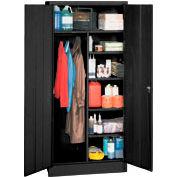 Combination Storage Cabinet - Black