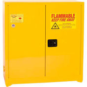 Eagle Paint/Ink Safety Cabinet Manual Close - 40 Gallon Yellow