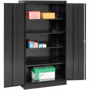 Tennsco Metal Storage Cabinet 1480-BLK - 36x24x72 Black