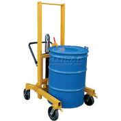 Vestil High-Profile Hydraulic Drum Transporter DCR-880-H-HP 880 Lb. Capacity