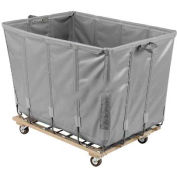 Dandux Vinyl Basket Bulk Truck 400720G10A-3S 10 Bushel - Gray