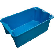 "Molded Fiberglass Toteline Nest and Stack Tote 780408 - 20-1/2"" x 12-7/8"" x 8"", Pkg Qty 10, Blue - Pkg Qty 10"